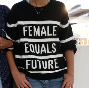 Sweaters - female equals future top!